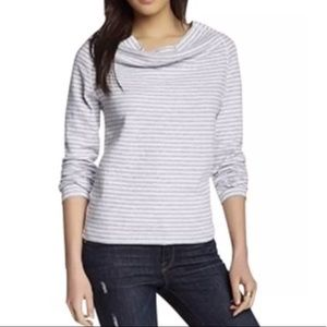 JAMES PERSE Cowl Neck Shirt Sweatshirt Striped